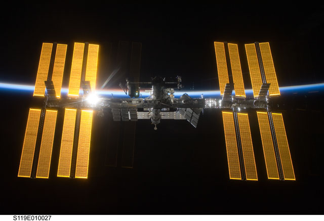 ISS from Discovery STS-119